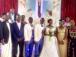 Radio Sapientia Staff Ben Musanje ties a knot with Sarah Nalunkuma